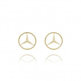 18k Mercedes Benz Emblem Cufflinks